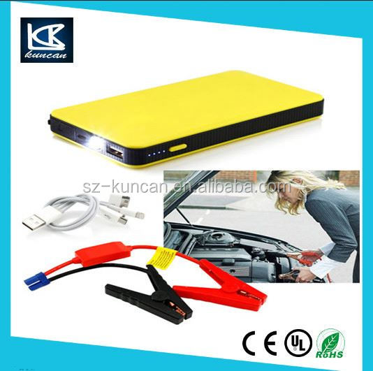 12V Portable Car Jump Starter Pack Booster Charger Battery&Power Bank China Supplier