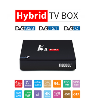 K2 KII PRO S905D Widevine level1 playready Android 7.1 full sexy hd video download combo dvb t2 dvb c dvb s2 android tv box