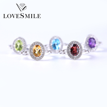 925 silver silver gemstone rings for women jewelry manufacturer