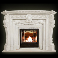 Rank good quality western modern classic home or villa decoration marble fireplace mantel
