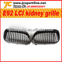Car kidney grill cover for BWM E92 LCI front bumper carbon grille auto grid mesh grill