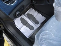 Disposable plastic car seat protective covers