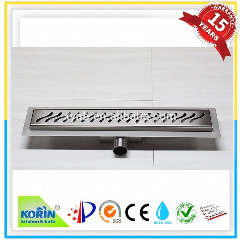 Long plastic shower stainless steel shower grates