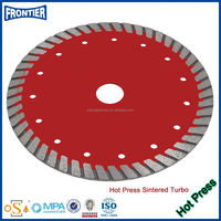 Diamond crystallized glass saw blade