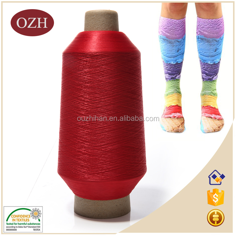 Colour and lustre is bright beautiful 100 % nylon yarn for stockings
