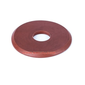 Flexible urethane rubber coated friction disc washer
