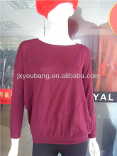 lastest design jacquard star knitwear 100%cotton pullover with quarter zipper of back for girls