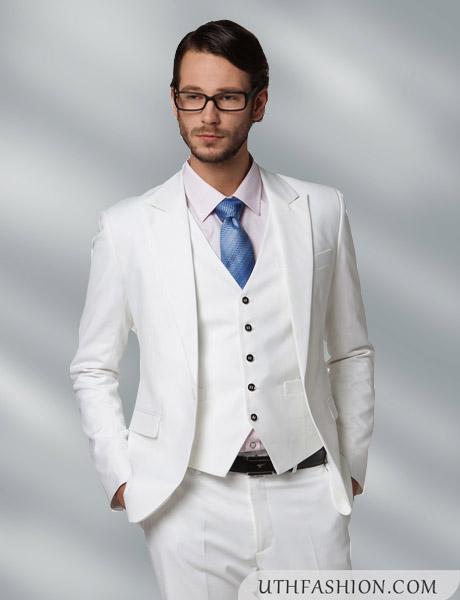 2017 Latest Coat Pant Designs White Men Suit Slim Fit 3 Piece Mens ...