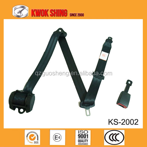 car universal 3 point seat belt,universal safety belt, with force-limited retractor