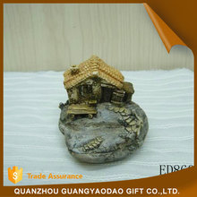 Baubles stone house figurine for home decoration souvenir items gift item
