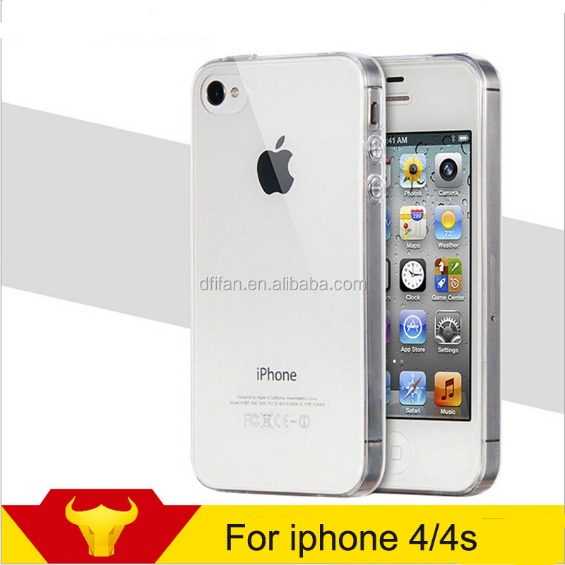Ultra thin Tpu phone case for iphone 4 transparent mobile case cover for apple iphone 4s