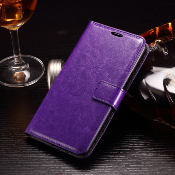 Crazy Horse Grain Oil Side Leather Wallet Case Mobile Phone Cover For Moto X Play