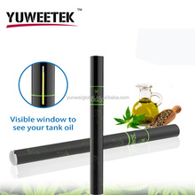 USA hot selling YuWeeTek disposable e cigarette vaporizer pen cbd hemp oil vape pen with factory low price