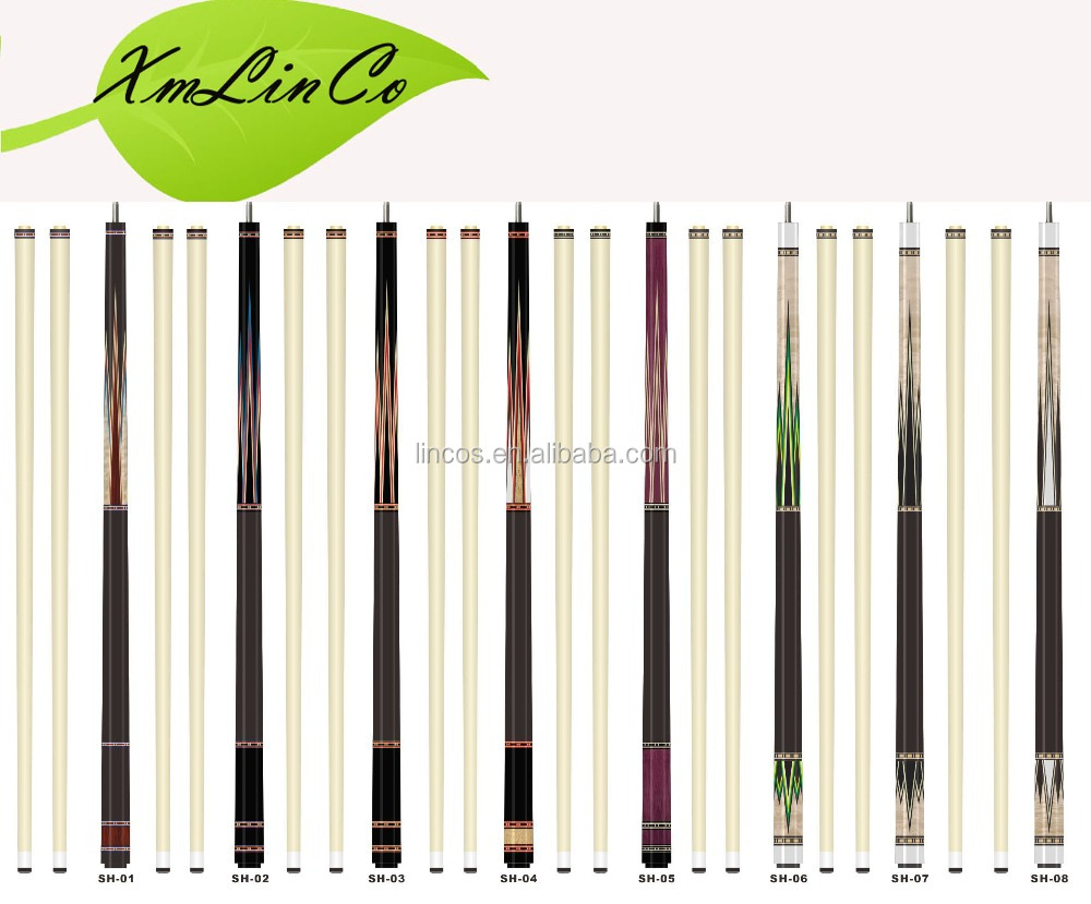 marple pool cues/billiard cues/ snooker pool cue sticks 25pcs one carton