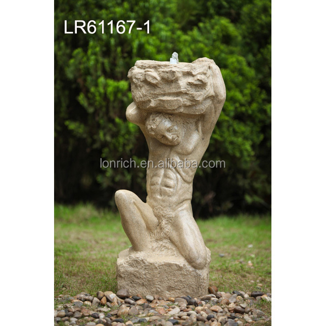 Large garden outdoor LED water fountains statues