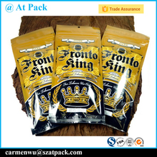 Resealable 3 side sealing bag tobacco leaves packaging