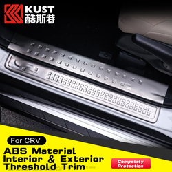 KUST Stainless Steel Protective Interior & Exterior Threshold Trim For Honda For CRV 2015 Trim Door Sill Pedal
