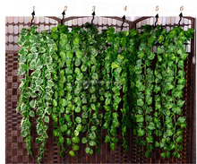 Factory Direct Sales Fabric Decorating Green Artificial Grape Vine Leaves for Garden Decoration