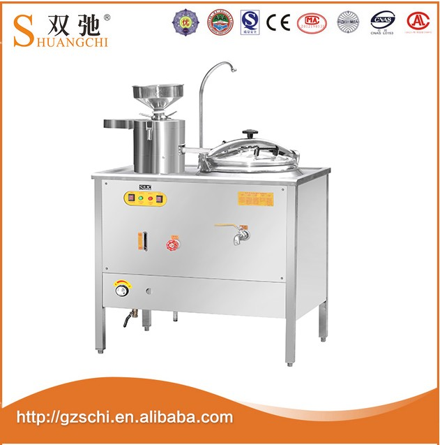 SC-YR12 50L CE high quality professional commercial gas type stainless steel soybean tofu press machine with soybean milk