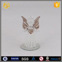 100 wholesale clear glass angel ,stained glass angel for christmas ornaments