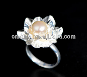 Sterling silver pearl ring designs for women pearl ring mountings new style 925 silver ring