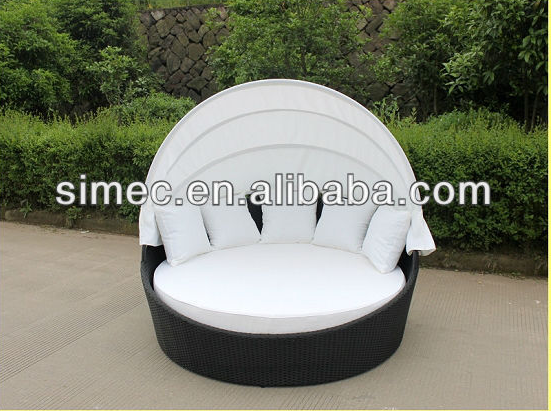 Wholesale products China OEM order PE rattan woven outdoor furniture set patio sunbed