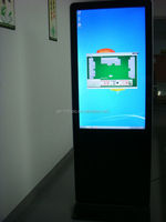 46 inch touch screen monitor all in one touch computer flooring kiosk stands for malls windows pc
