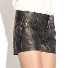 European Style Casual Leather Shorts For Women Ladies Pu Leather Shorts