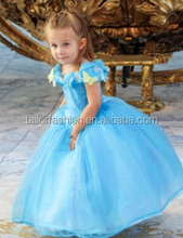 Cinderella girls dress hot movie Cinderella Deluxe Dress Girls Princess Cosplay Party Dress Girls Cinderella Costume For Kids