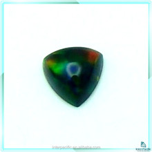 Hot sale Non resin black created rainbow fire opal