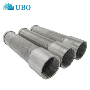 stainless steel 304 mesh filter vee johnson wedge wire screen filter system pipes for water tank strainer