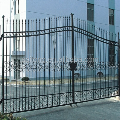 HDG Steel tube fence galvanizediron tube gate parts