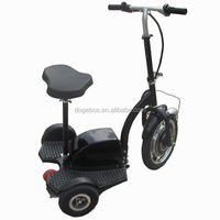 350w/500w 2014 new model dohom 3 wheel motor scooter with removable seat