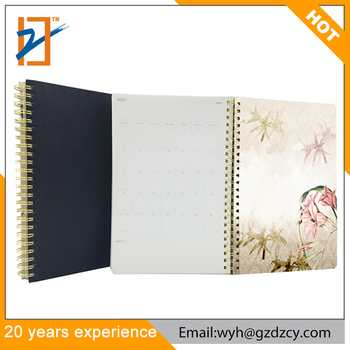 Agenda 2019 2020 Planner Leather Bound Leather Spiral Notebook With Color Pages