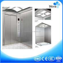 8 Persons MRL passenger elevator with hairline st/st cabin