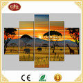 Landscape 5 panels hanging canvas wall art