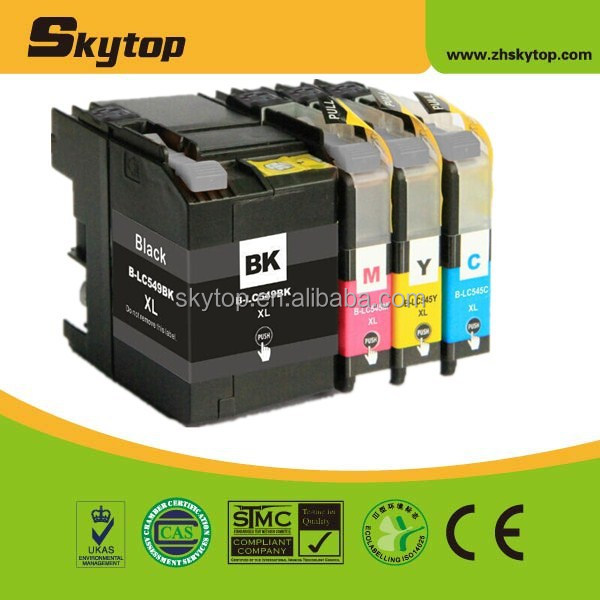 compatible Brother new ink cartridge LC549XLBK,545XL C/M/Y for inkjet MFP DCP-J100/<strong>105</strong>/MFC-J200