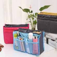 Wholesale Colorful Double Zippers Organizer Bag In Bag In Yiwu