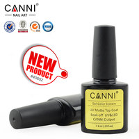 #40602X CANNI Factory Supply 2015 New 7.3ml Matte Topcoat UV Gel Nail Polish Top Coat