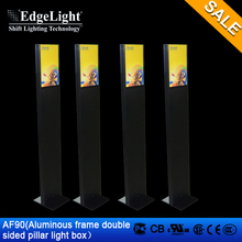 Edgelight AF90 Shop Signage double sided led pillar projection advertising equipment backlit window display