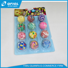 new design 3d figure bouncing ball with figure inside and pu clear bouncing ball