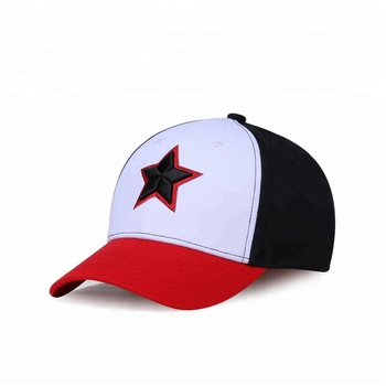 KaPin Retro Embroidery Cotton Unique Snapback Hat Contrast Color Stitching Cheap Baseball Caps