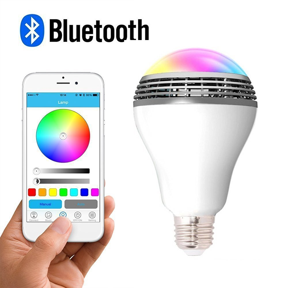 2017 8W RGB Color Changing Indoor Wireless Led Smart <strong>Bulb</strong> with Audio Speaker