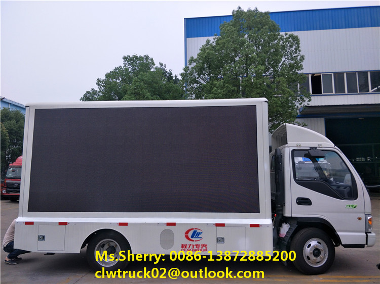 JAC mobile led advertising truck with foldable stage and screen lifting system, hot sale!
