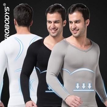321 ZEROBODYS Comfortable Mens Body Shaper Long Sleeve Undershirt Custom-made Performance Compression Shirts Male Body