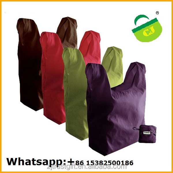 Foldable Cheap Reusable polyester nylon foldable tote Shopping Bag