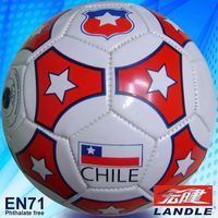 Machine Stitched Leather (pvc tpu neoprene)promotion/official soccer ball