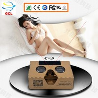 V2 Google Cardboard Virtual Reality clip on active 3d glasses,love heart diffraction glasses 3d,google vr box