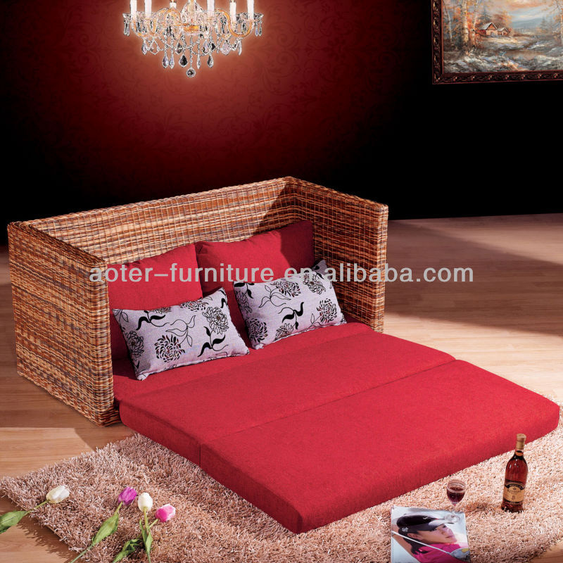 Factory direct selling outdoor rattan sofa bed