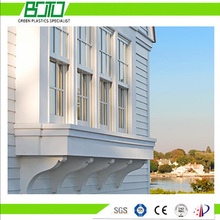exterior and interior cellular PVC trimboard PVC mouldings for vinyl doors windows frame